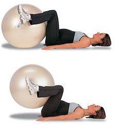 Упражнение с фитболом
