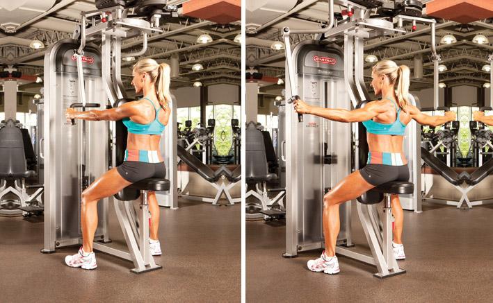 Упражнения на заднюю дельту плеча